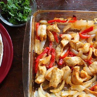 Easy Oven-Baked Chicken Fajitas.