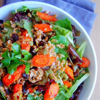 Cinnamon Roasted Carrot and Farro Salad