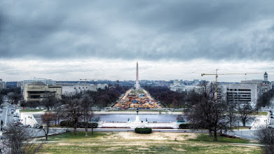Photo: View of the National Mall from the Balcony of the Speaker of the U.S. House of Representatives  Photographers can be very picky about when and where they take photographs. Sometimes that's within our control, and other times there are opportunities that arise and you can take it or leave it. This shot is a combination of both circumstances happening at once. I would love to stand here over a Spring or Summer sunset and take photos. However, the only reason I was able to take this photo at all was because I planned my trip during a planned recess of the House of Representatives. Otherwise, I wouldn't be allowed out here. Even so, the opportunity was something of a midday happenstance.  At first glance, I was a bit disappointed by all the construction along the mall. My guide informed me of a universal truth. Washington, D.C. is always under construction or renovation. There are rarely perfect times to visit and avoid seeing some disruption. It reminds me of the old joke that Florida's state bird is the construction crane. The same would be true here if cities were represented by birds.  People say that we need change in Washington. Well, there you go. It's changing every day.  Please visit the blog at http://williambeem.com