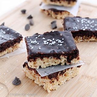 Salted Caramel and Chocolate Rice Krispies Treats Recipe