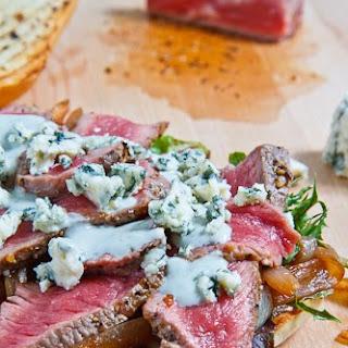 Black and Blue Steak Sandwich.