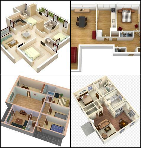 3D小房子的計劃的想法