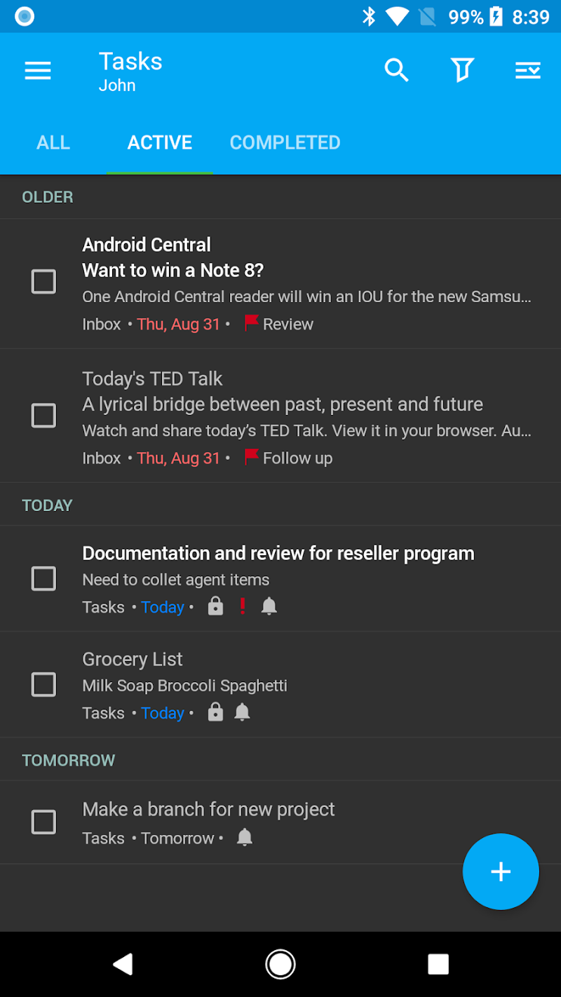 Nine - Email & Calendar Screenshot 2