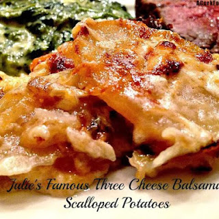 Three Cheese Balsamic Scalloped Potatoes