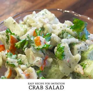 Imitation Crab Salad.
