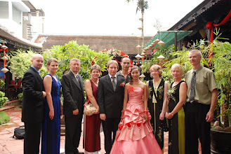 Photo: The Canadians and their Vietnamese bride.