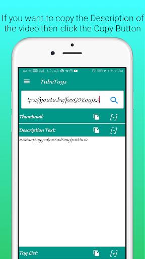 UTube Tags And Thumbnail Downloader screenshot 4
