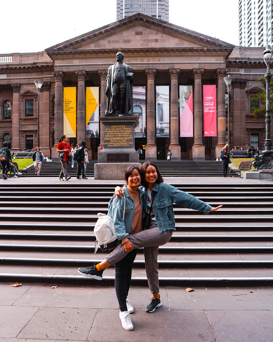 In front of State Library of Victoria