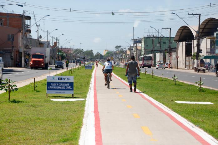 Ciclovia em uso na capital paraense. (Fonte: Prefeitura de Belém/Reprodução)