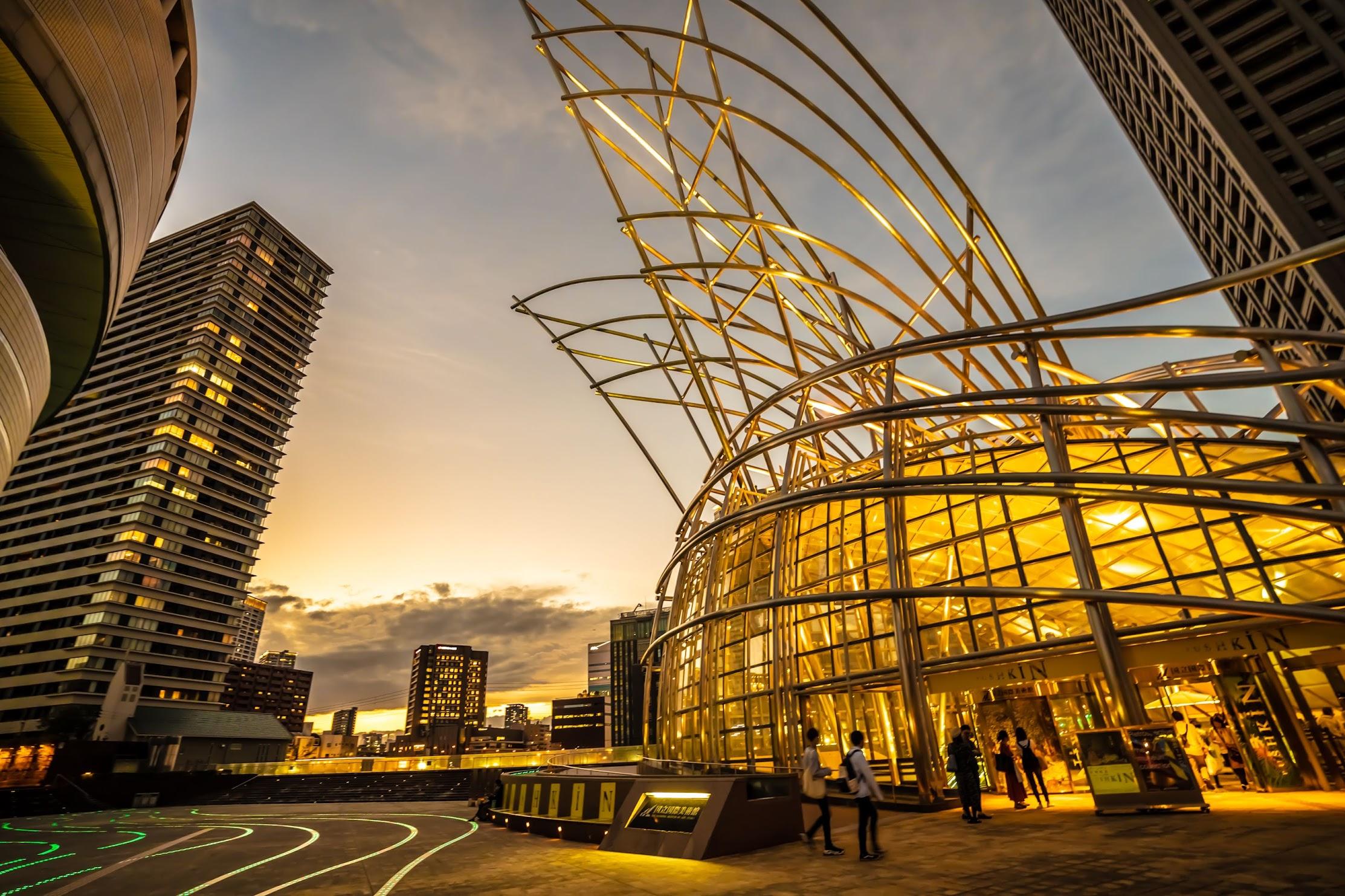 国立国際美術館 ライトアップ2