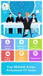 Free Resume Builder – Professional CV Maker (MOD, Pro) v1.3 1