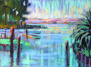 Photo: Big Break Afternoon, pastel by Nancy Roberts, copyright 2014. Private collection.