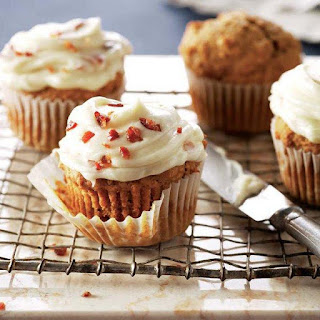 Gluten-free Pumpkin Cupcakes With Maple-bacon Icing