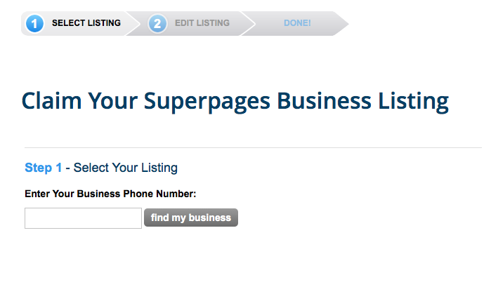 superpages claim business listing