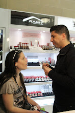 Photo: That's THE Ramy from Ramy Cosmetics doing @DentistMel's brows!