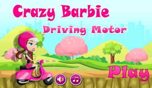 crazy girl driving motor