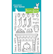 Lawn Fawn Clear Stamps 4X6 - Cozy Christmas