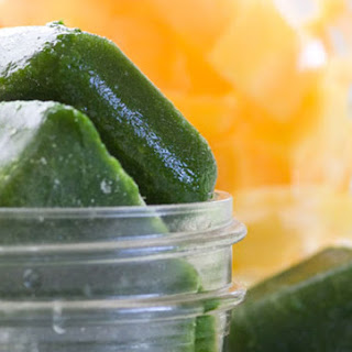 Frozen Kale Cubes for Smoothies.
