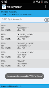 WiFi Key Finder (Root)- screenshot thumbnail