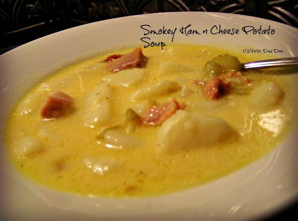 Smoked Ham N Cheese Potato Soup Recipe