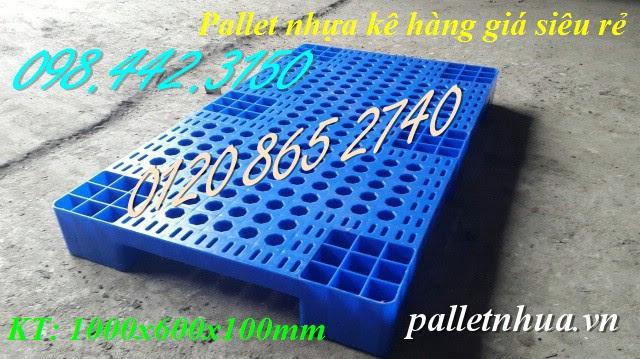 Pallet nhựa kê hàng 1000x600mm
