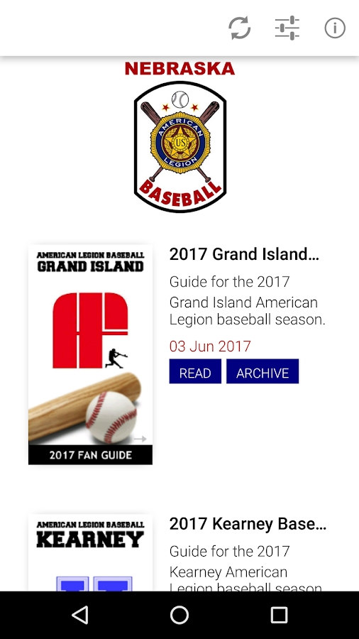 Nebraska American Legion Baseball Fan Guide- screenshot