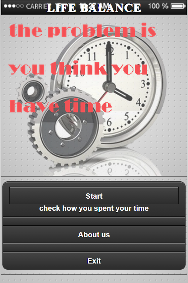 Time of your life- screenshot