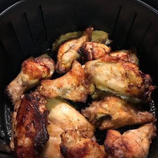 Savory Air fryer chicken wings.
