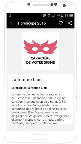 android Horoscope 2016 en Français Screenshot 6