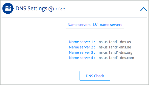 DNS Settings > Edit