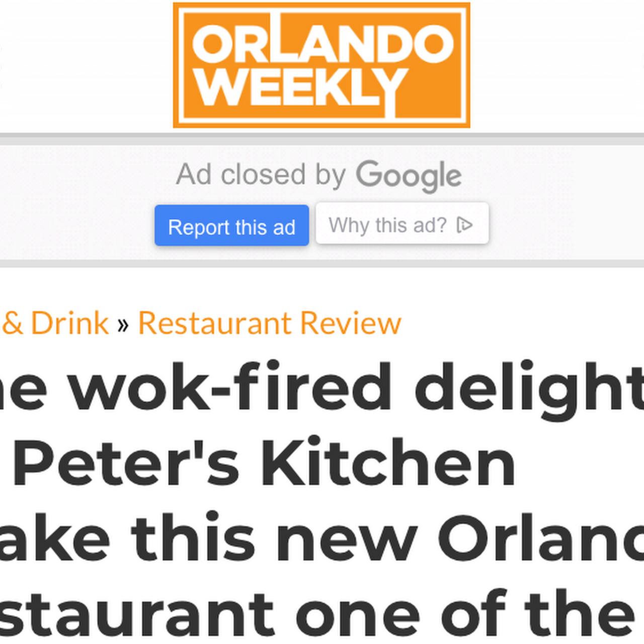 Peter\'s Kitchen China Bistro - Chinese Restaurant in Orlando