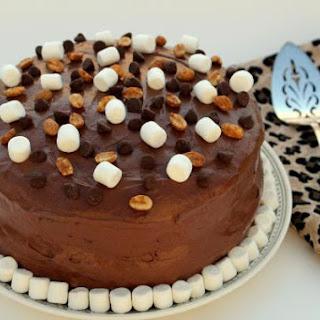 Peanut Butter Rocky Road Cake