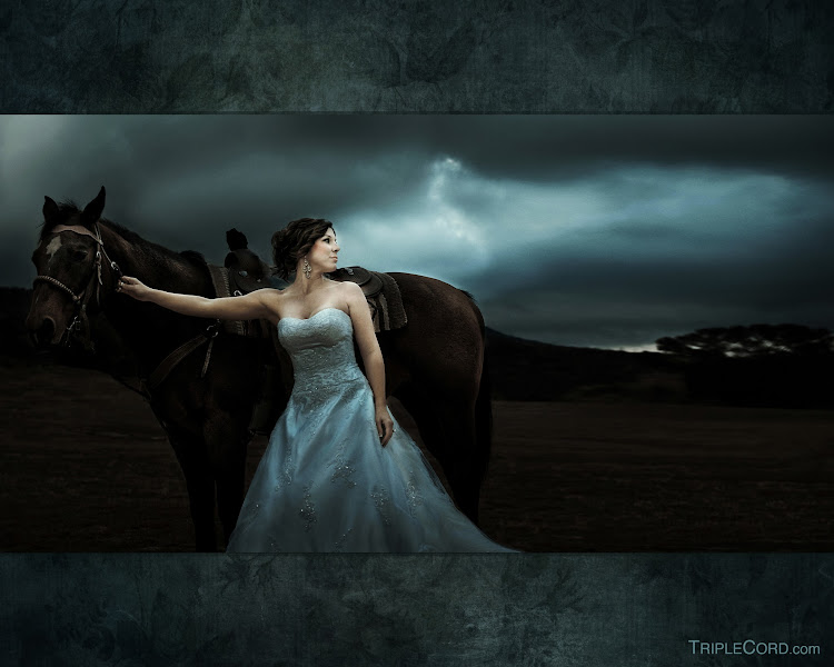 "Photo: The Princess Bride taken from a series of story telling images of the ""Bridegroom"" beckoning her to return home where there is warmth, rest and comfort."