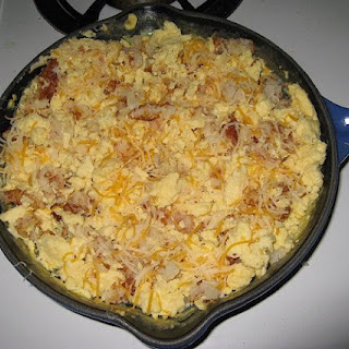 Sausage and Hash Brown Cheddar Casserole.