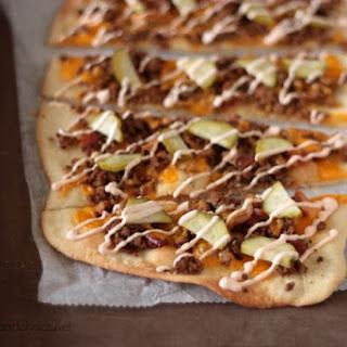 Bacon Cheeseburger Flatbread