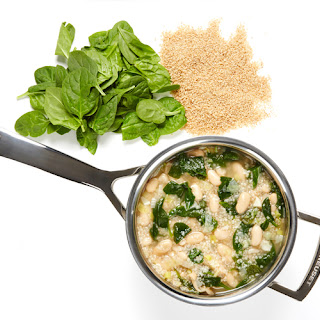 White Bean, Spinach and Couscous Soup.