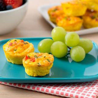 Mini Ham and Cheddar Frittatas.