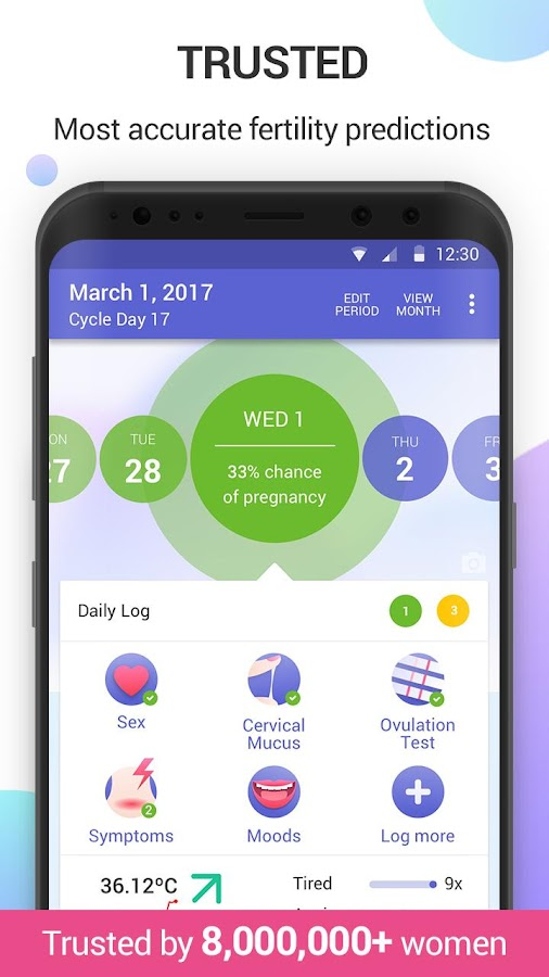 Ovulation Tracker Glow, Period & Fertility App- screenshot
