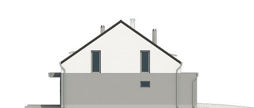 Mazurek z garażem 1-st. bliźniak A-BL2 - Elewacja lewa
