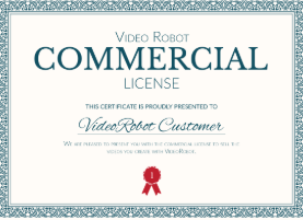 video robot software Free Commercial License. video robot app  has free commercial license.