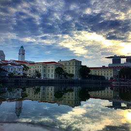 morning refection in thr city by Janette Ho - Instagram & Mobile iPhone