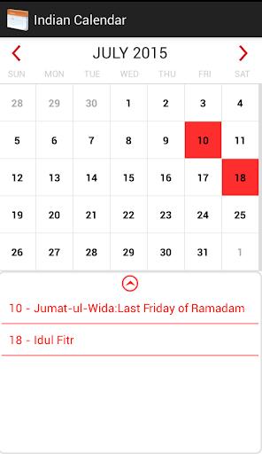 Indian Festival Calendar