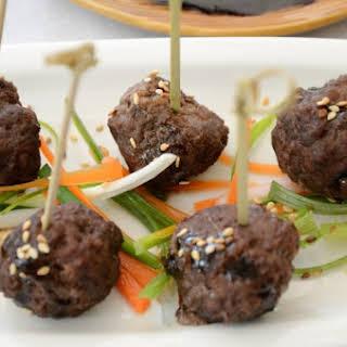 Teriyaki Cocktail Meatballs.
