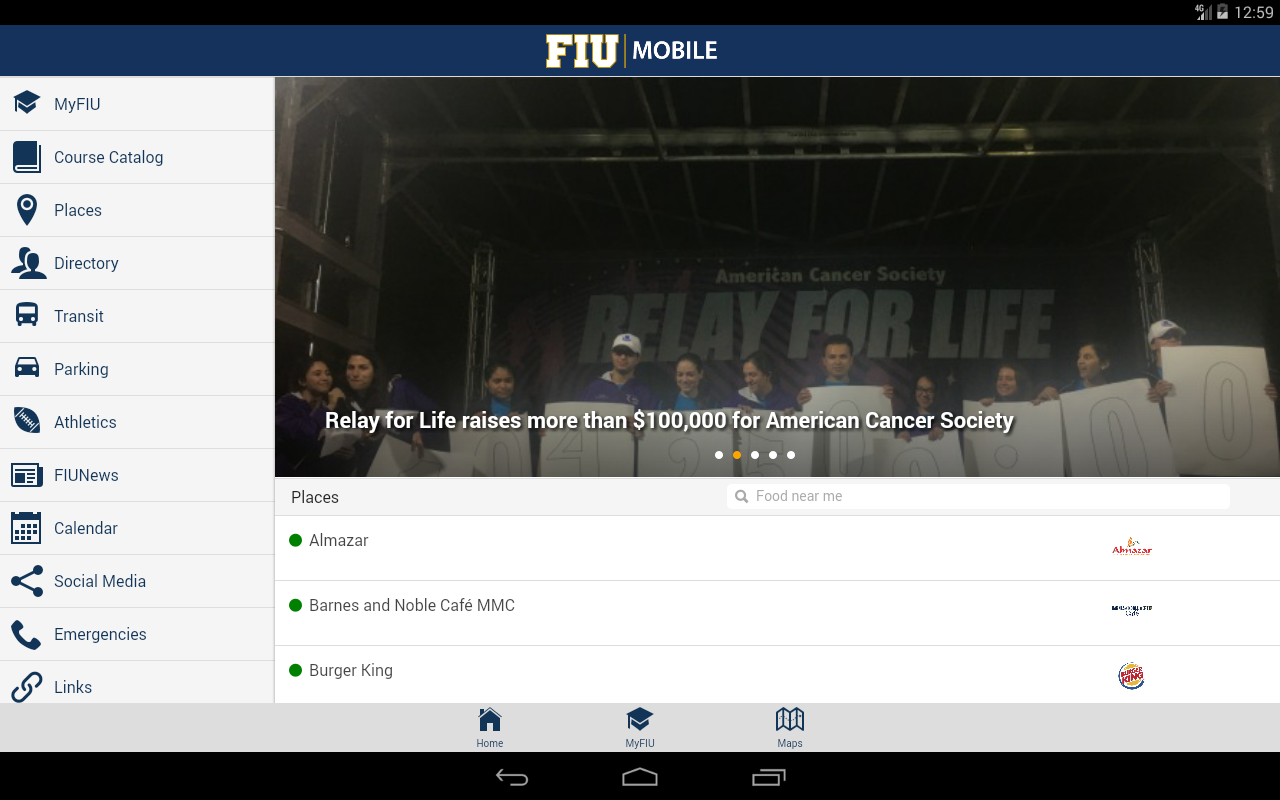 FIU Mobile- screenshot