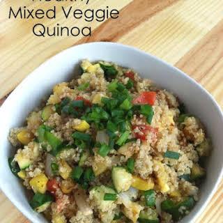 Healthy Mixed Veggie Quinoa.