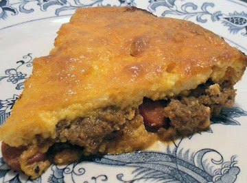 Coney Island Style Chili Dog Pie Recipe