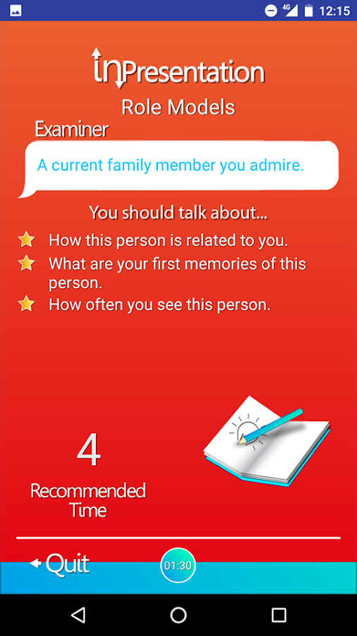 Mini IELTS Speaking Lite- screenshot