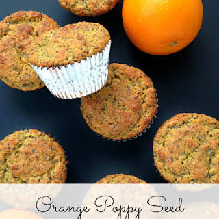 (Grain-Free) Orange Poppy Seed Flax Muffins.