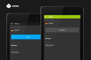 Screenshot of Hideman VPN