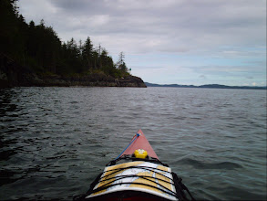 Photo: Heading west with Vancouver Island on the left.